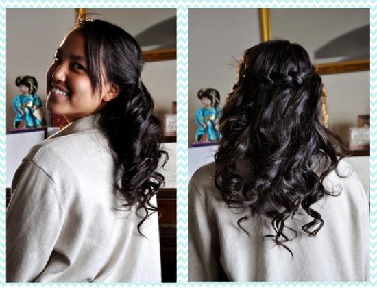 Curly waterfall braid #hair