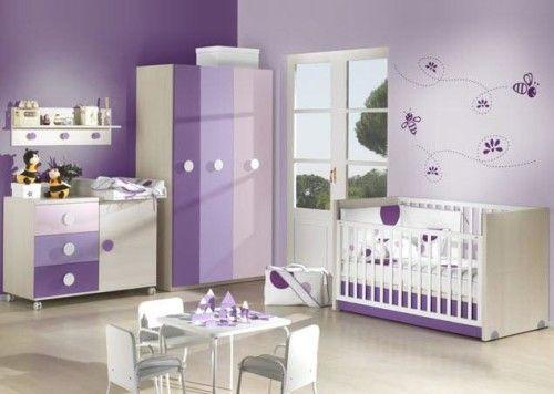 ideas for baby girl nursery purple