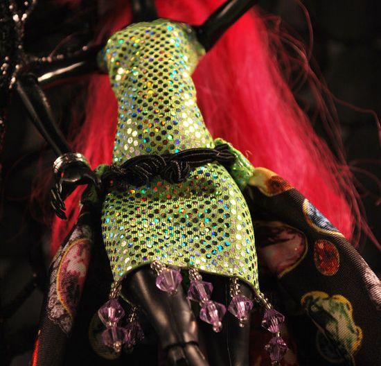Monster High handmade doll beaded mini dress by aGhoulsNightOut