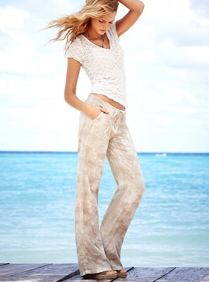 The Beach Pant in Linen by VS - I could live in these pants all summer.