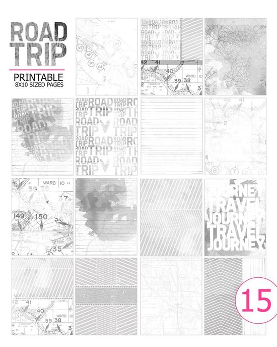 travel journal printable pages
