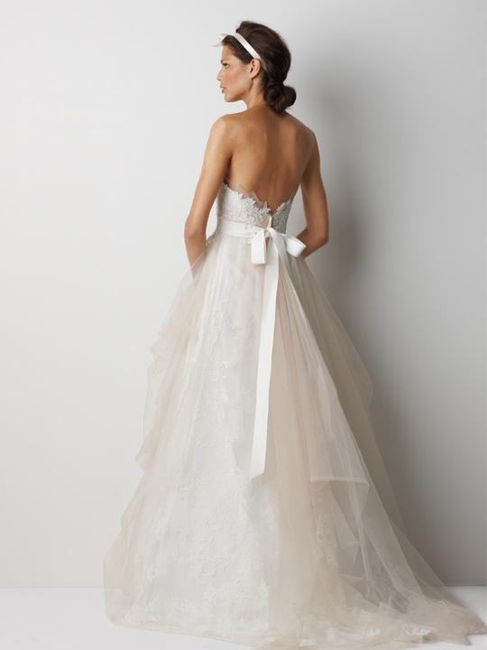 Wedding dress back.