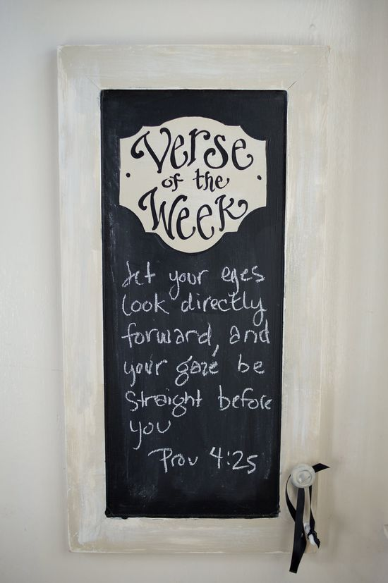 Verse of the Week Chalkboard for the church library