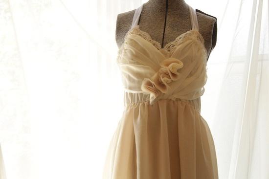 Wedding Dress Vintage Love- Short Chiffon knee length  Eco Friendly. $225.00, via Etsy.