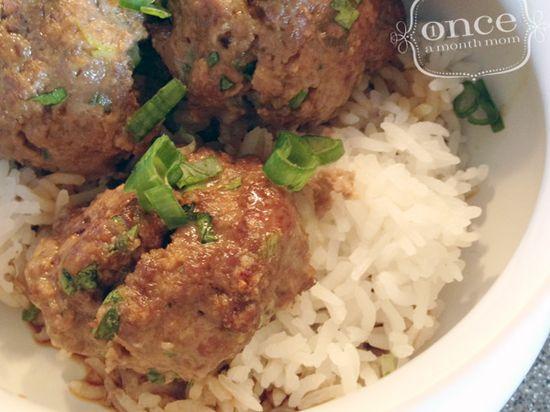 Asian Meatballs recipe- Dinner #freezercooking #wwpluspoints #oamc