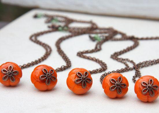 Buy 1 Get 1 Free. Pumpkin Necklace. Halloween by KapKaDesign, $28.00