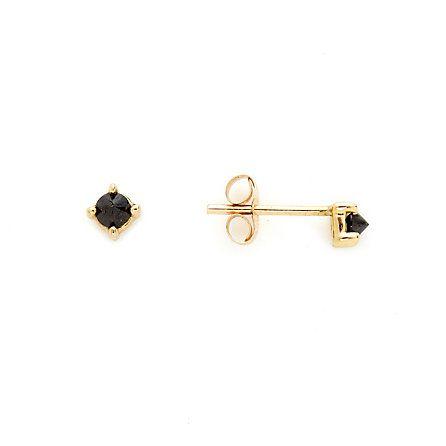 dainty black diamond studs