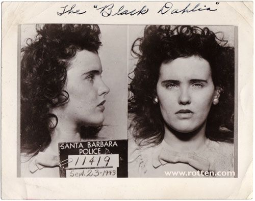 Long before she was The Black Dahlia, she was arrested for underage drinking in 1943. Her mug shot would become one of the most famous photos of her.
