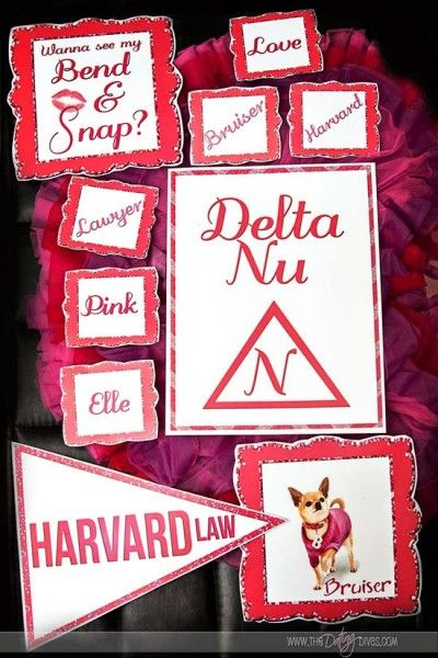 Free printables for a Legally Blonde Movie Night.  They have some sexy ideas to turn it into a date night.  OR you could turn it into a girls night.