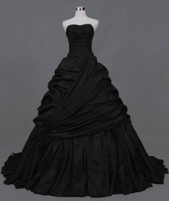 black wedding dress...