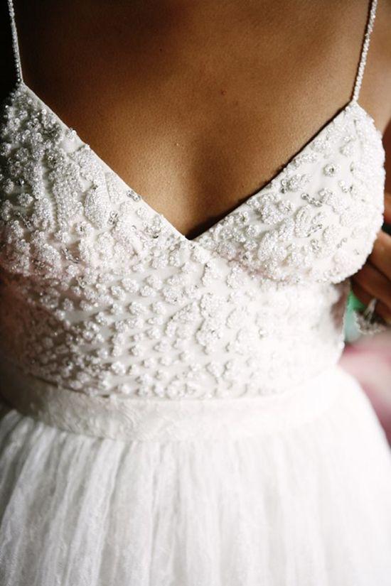 stunning mix of beading + lace