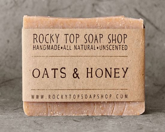 Oats & Honey Soap - All Natural Soap, Handmade Soap, Cold Process Soap, Unscented Soap. $6.50, via Etsy.