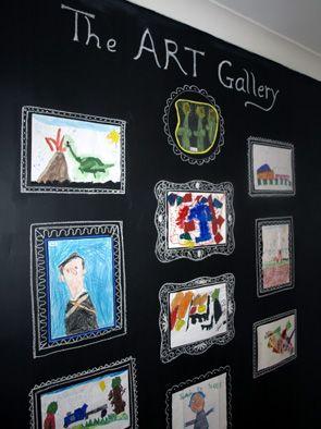 chalkboard wall art gallery!