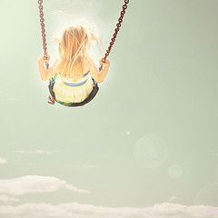 I need a photo like this of Clara on a swing. The girl loves swinging.