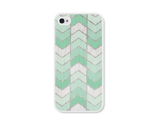 Mint Green Herringbone iPhone 4 Case