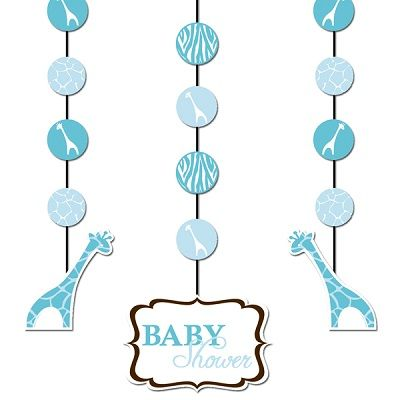 party goods for safari baby shower blue and brown