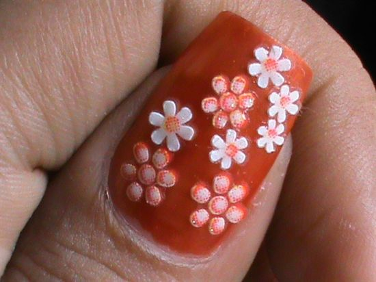 Multicolored Flower Nails - Nail Art Gallery by NAILS Magazine