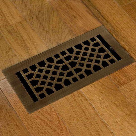 wooden floor registers with modern design