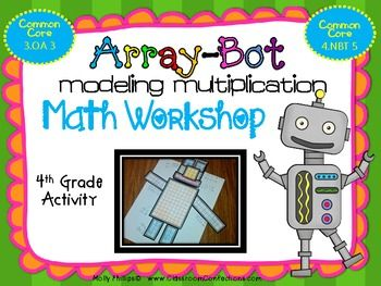 Multiplication Array-Bot  {Math Workshop Activity}