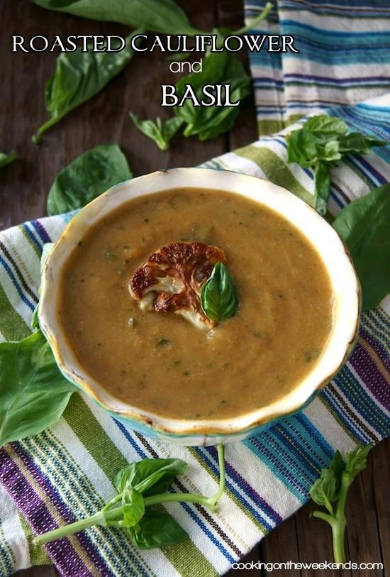 Roasted Cauliflower Basil Soup Recipe