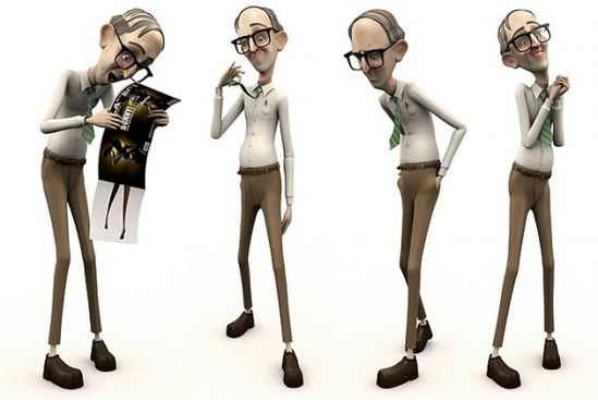 best 3D Character Design Office-Nerd