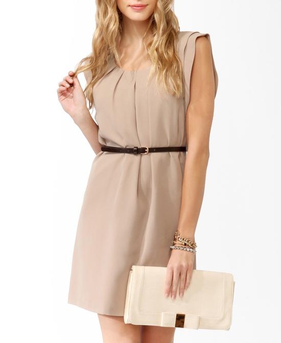 Pleated Dress w/ Belt