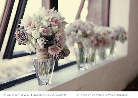 gorgeous bouquets.