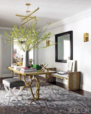 wish i had an entry large enough for a hall table like this! ashley stark's manhattan apt via elle decor, interior design by philip gorrivan, james aman, john meeks