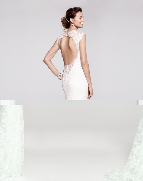 It's all about the back in this Bliss Monique Lhuillier lace gown
