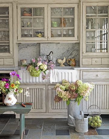 white kitchen country living by decorology on Flickr.