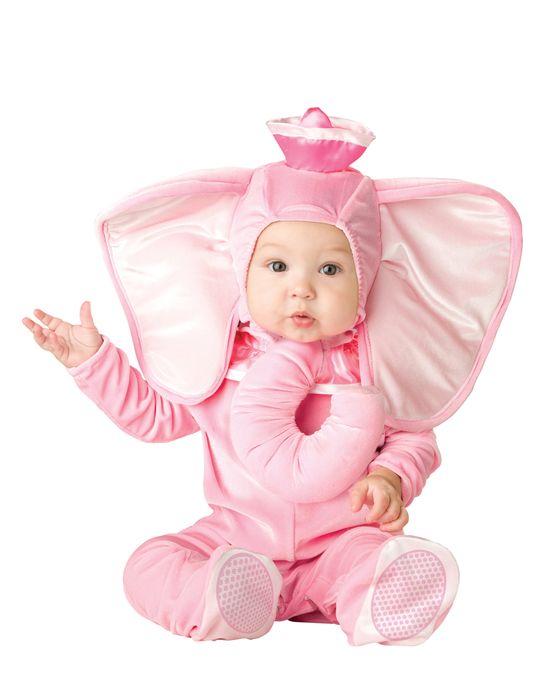 Delightful Pink Elephant Baby Costume