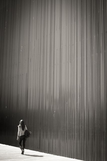 #girl #architectural texture #texture #black and white