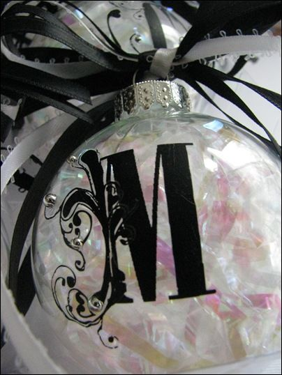 Monogram ornaments