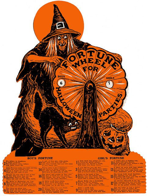 1920s Beistle Halloween Fortune Wheel
