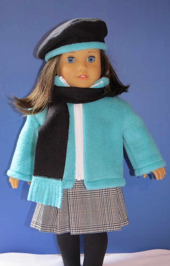 American Girl doll clothes pleated skirt set. $37.00, via Etsy.