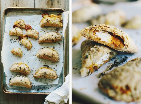 squash + goat cheese empanadas // via sprouted kitchen