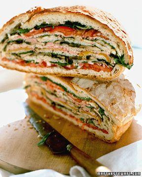 21 veggie sandwiches