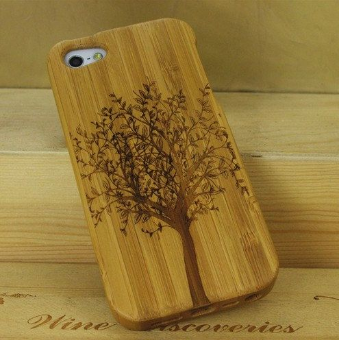 Bamboo iphone 5 case ecofriendly Gumtree pattern iphone by etcase, $18.95