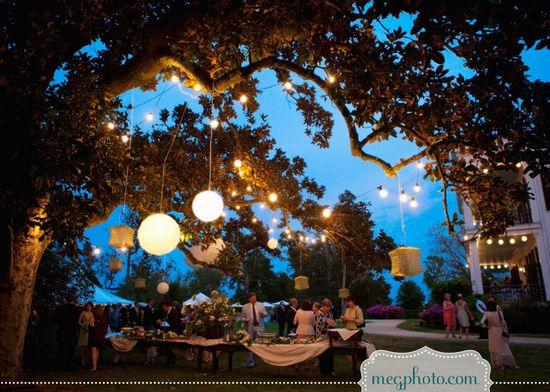 #wedding #outdoors #reception #tent #lanterns