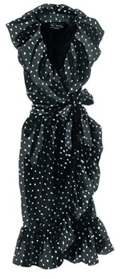 B & W polka dot dress