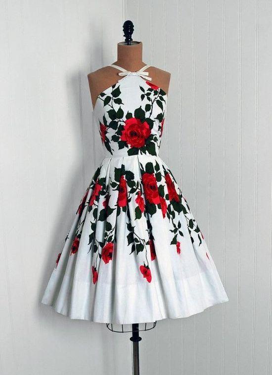 #partydress #vintage #frock #retro #teadress #romantic #feminine #fashion #promdress