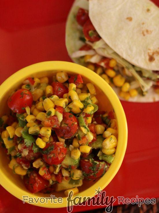 Fresh Corn Salsa on MyRecipeMagic.com