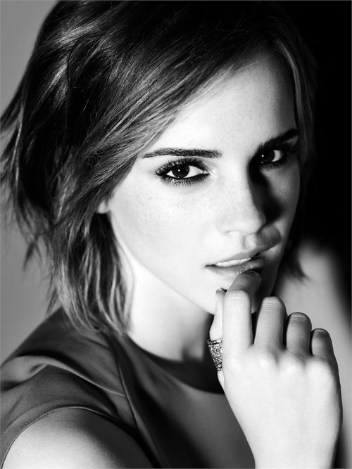 Emma Watson - #Beautiful #Blackandwhite #Celebrity