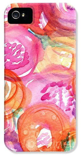 Abstract flowers iphone cover