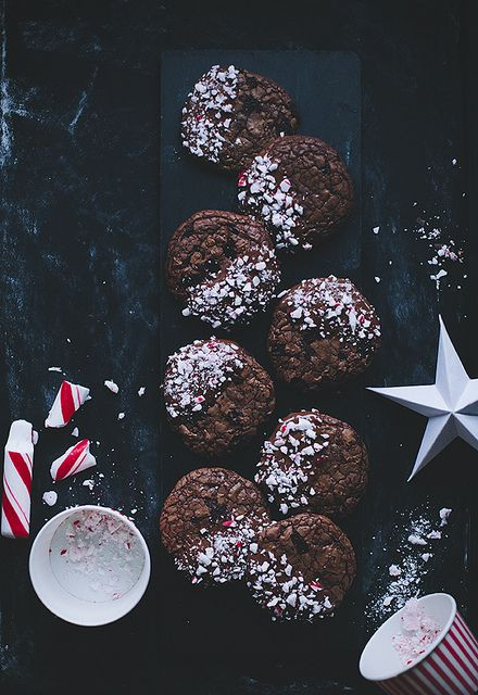 Candy Cane Chocolate Cookies