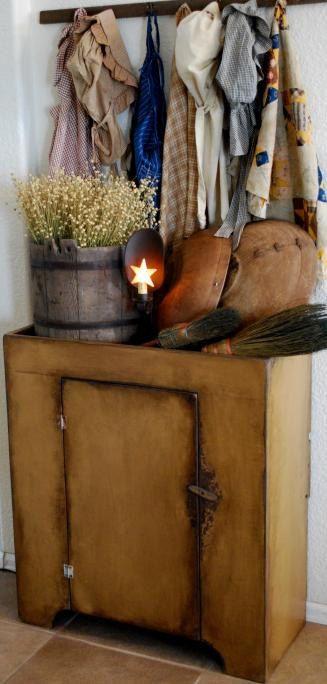 Primitive Antique Dry Sink Cupboard by redroosterbab ....nice