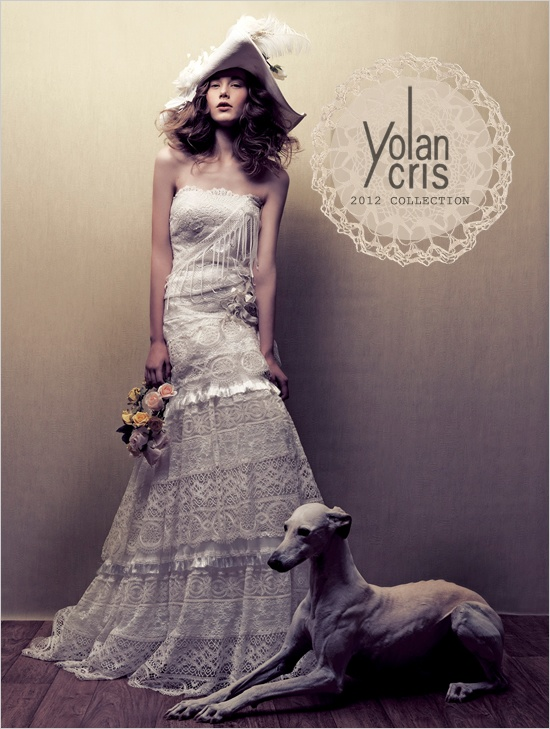 Yolan Cris 2012 Wedding Dress Collection    Not good for a wedding dress, but it's sort of interesting and eclectic