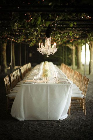 I love the idea of an outdoor wedding reception