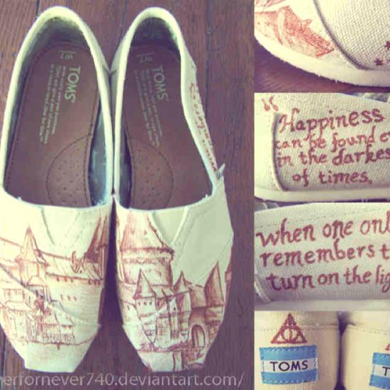 HOGWARTS TOMS.  harry potter. AND toms. what's not to love?