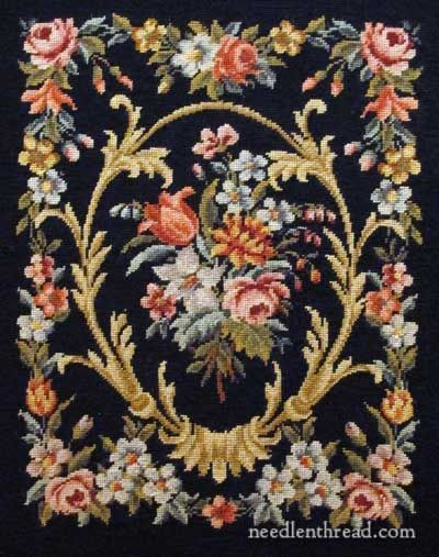 Floral Needlepoint panel